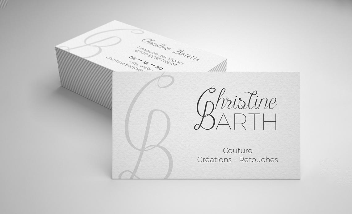Cartes de visite pour Christine Barth